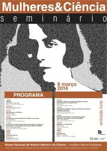 Mulheres&Ciencia - programa cartaz