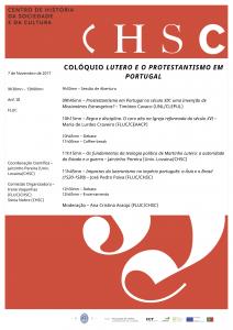 07.11.2017 - Colóquio - Lutero e o Protestantismo em Portugal