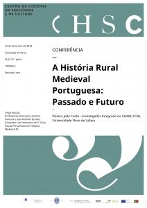 23.02.2018 - Cartaz - A História Rural Medieval Portuguesa - Passado e Futuro