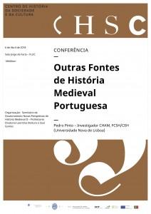 Cartaz - 8 de Abril - Outras Fontes de História Medieval Portuguesa