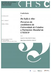 25.05.2018 - Cartaz - Da Sofia à Alta-  Percursos da candidatura da Universidade de Coimbra a Património Mundial da UNESCO
