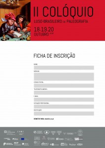 Ficha Inscrição - II Colóquio Luso-Brasileiro de Paleografia