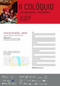 Ficha Inscrição - Jantar - II Colóquio Luso-Brasileiro de Paleografia