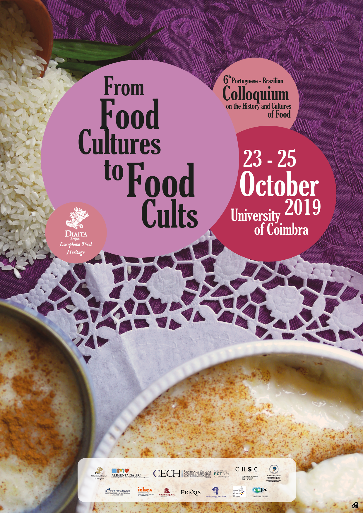 DIAITA – 6TH PORTUGUESE-BRAZILIAN COLLOQUIUM ON THE HISTORY AND CULTURES OF FOOD – FROM FOOD CULTURES TO FOOD CULTS