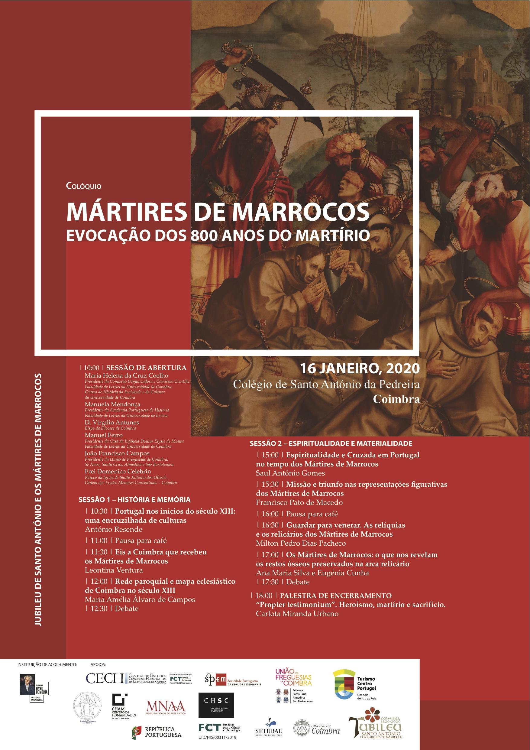 COLÓQUIO MÁRTIRES DE MARROCOS – EVOCAÇÃO DOS 800 ANOS DO MARTÍRIO