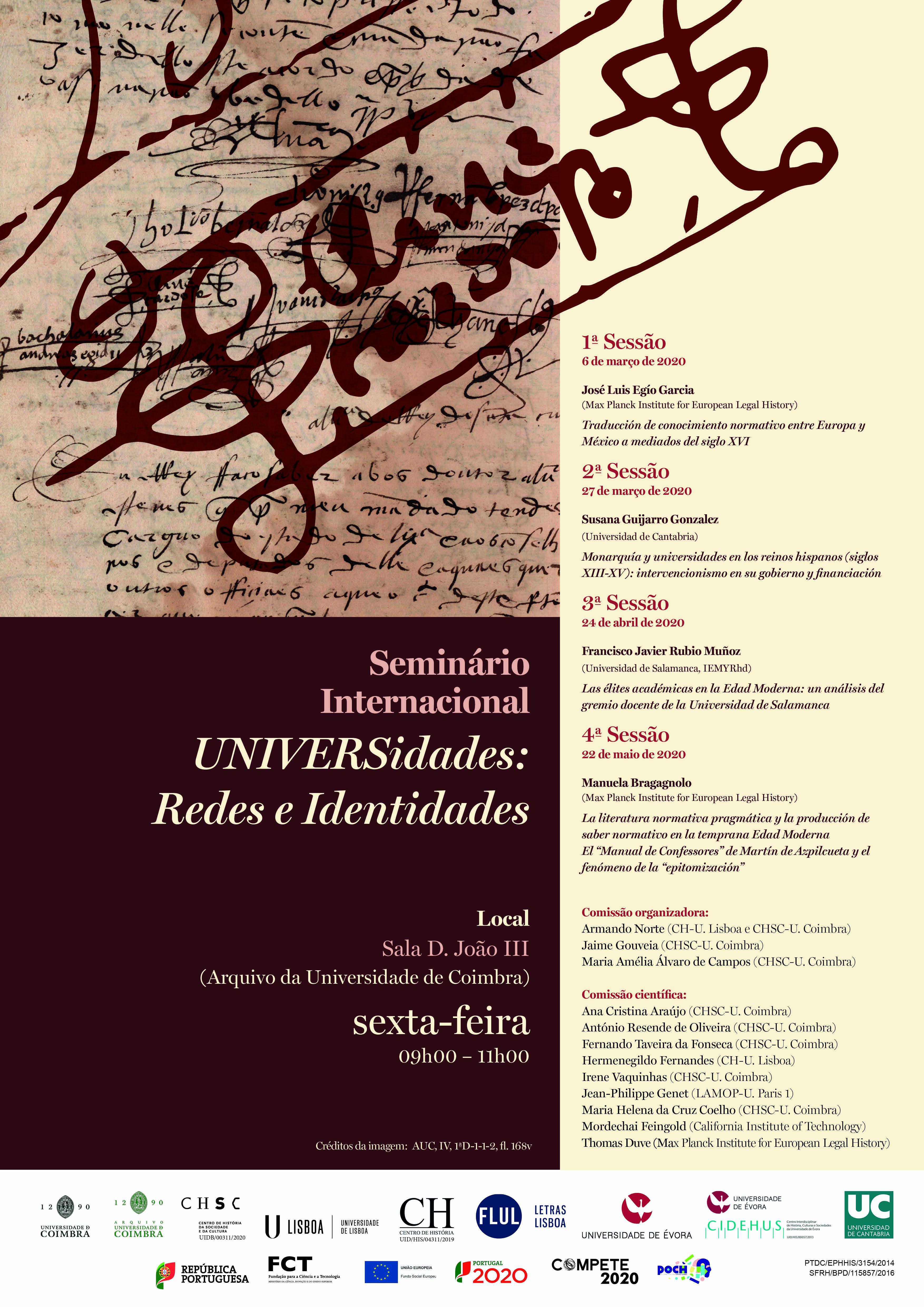 SEMINÁRIO INTERNACIONAL UNIVERSIDADES: REDES E IDENTIDADES