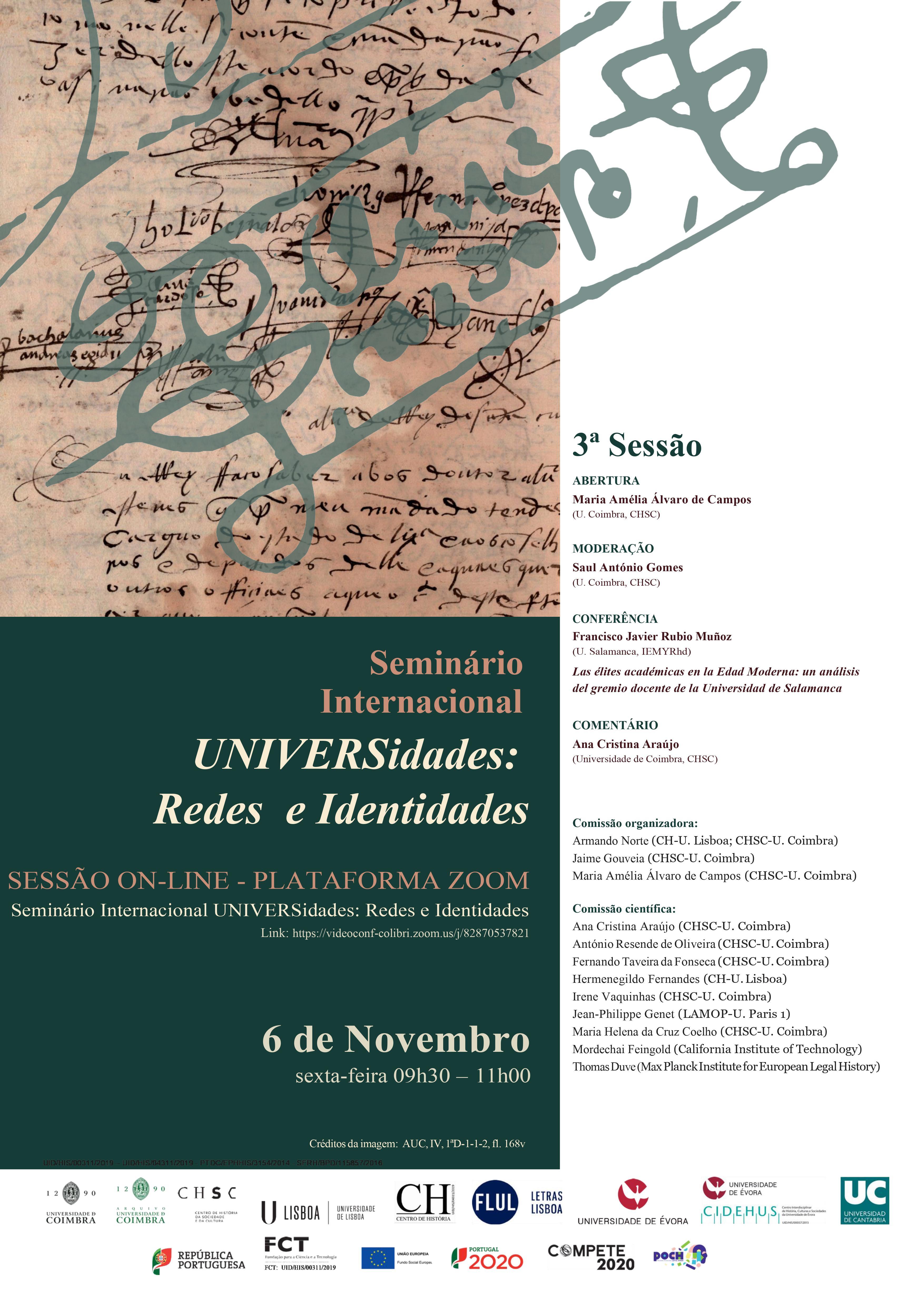 Seminário Internacional UNIVERSidades: redes e identidades – 3.ª SESSÃO